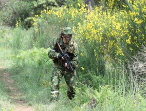 Камуфлиж излом используется в армии