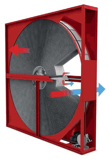 Как выглядит роторный рекуператор