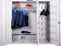Металлические шкафы для спецодежды